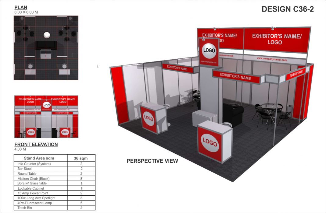 Basic Exhibition Booth : Booth rates booking adas showcasing the latest
