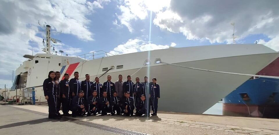 Sailing crew of PH Coast Guard's newest ship start training in France